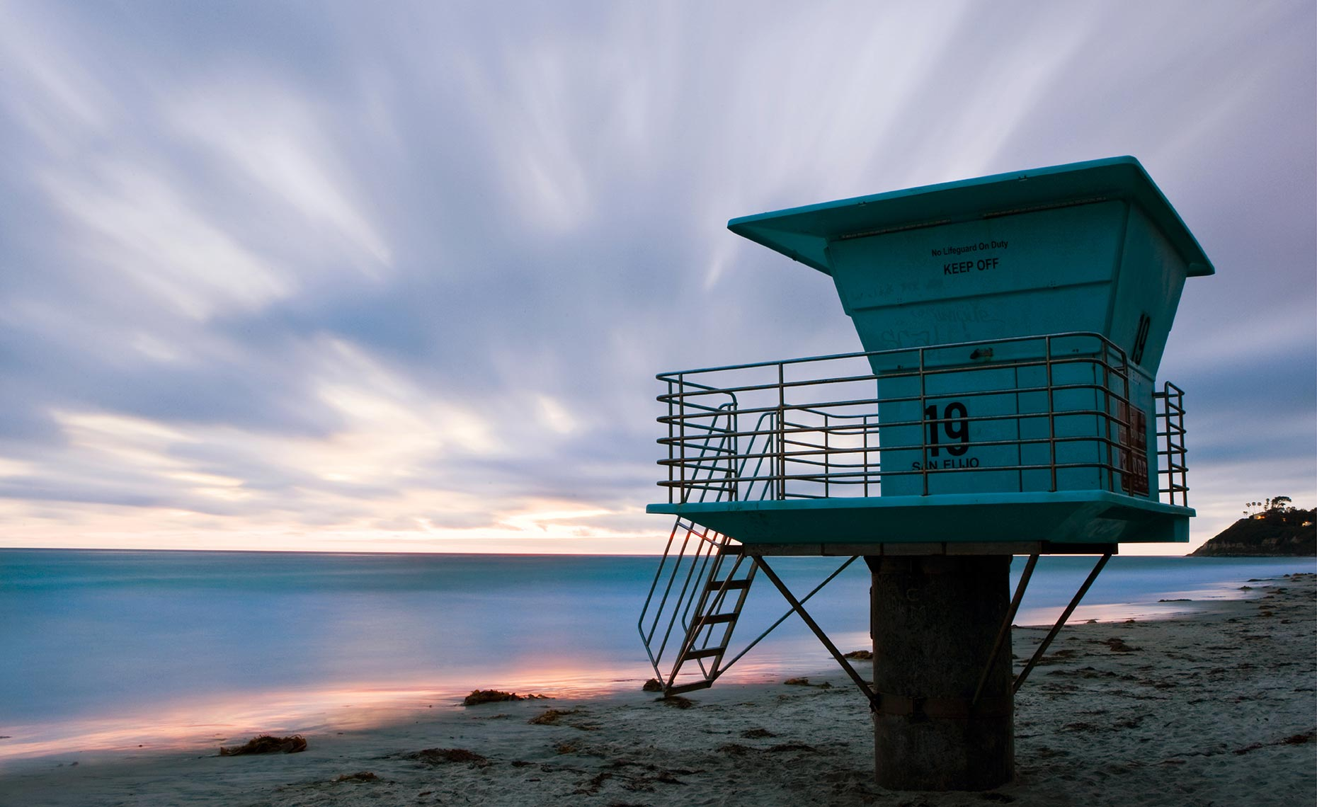 14_Cardiff_By_Beach_Sunset_Lifeguard_Tower_California_Environment_Landscape_Chris_Wellhausen_Photography.JPG